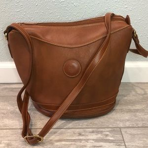 Leather purse bucket bag